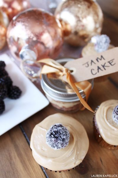 Recipe:  Blackberry Jam Cupcakes
