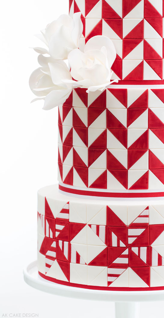 Candy Cane Cake by AK Cake Design | The 12 Cakes of Christmas