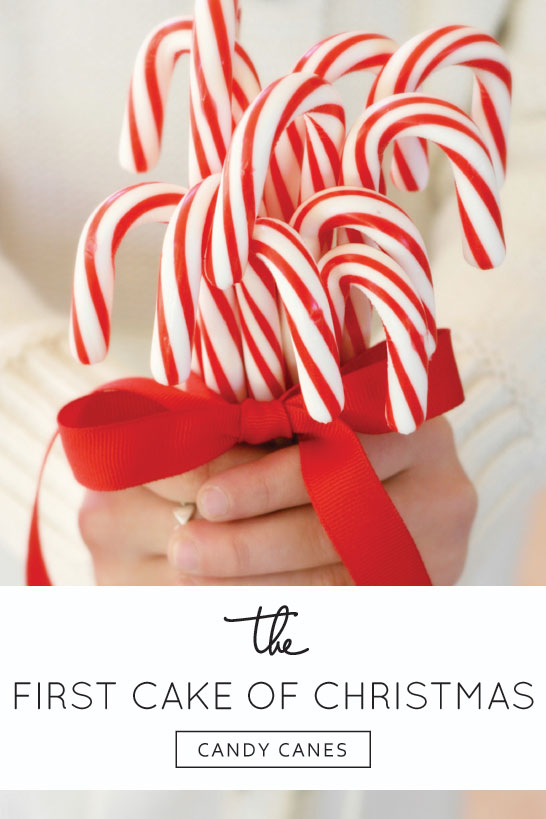 Inspired by Candy Canes  |  The 12 Cakes of Christmas