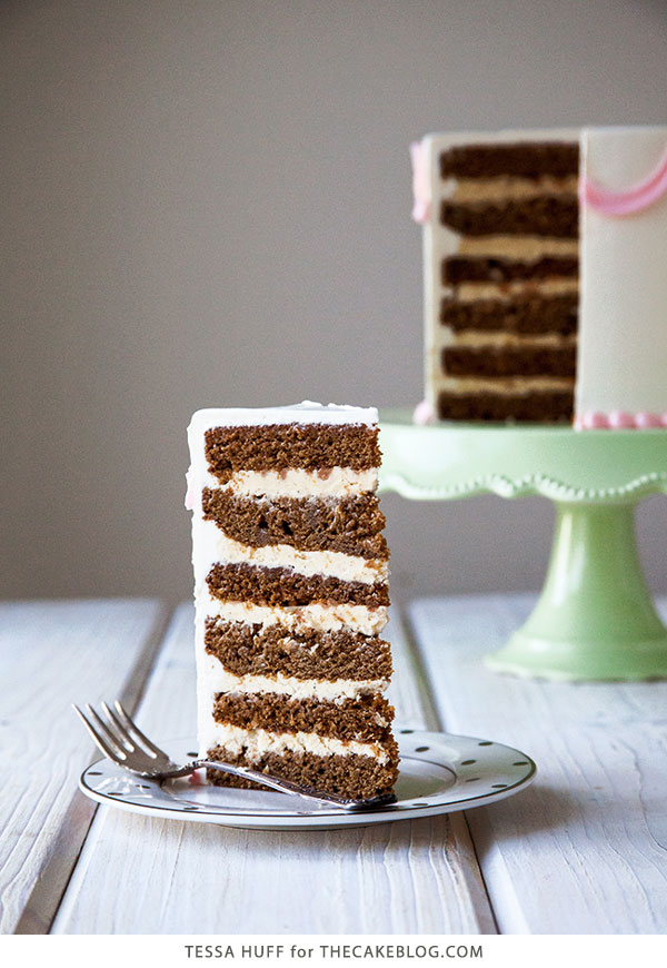 Gingerbread Latte Cake! Gingerbread cake, espresso buttercream and ...