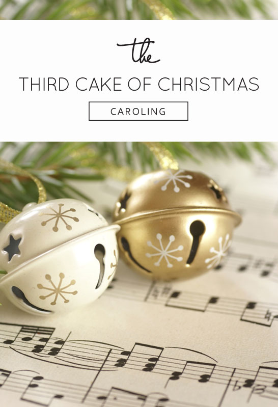 Inspired by Caroling  |  The 3rd Cake of Christmas by Gateaux Inc.  #12CakesOfChristmas