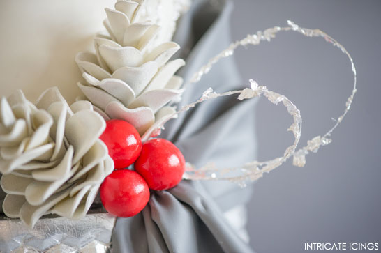 Inspired by Christmas Mantles     The 4th Cake of Christmas by Intricate Icings  #12CakesOfChristmas