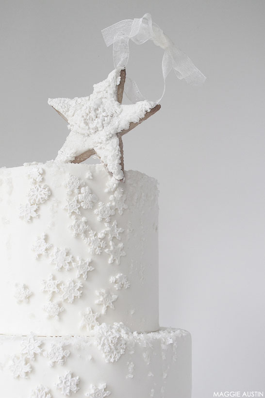 Snowflake Cake | by Maggie Austin | #12CakesOfChristmas