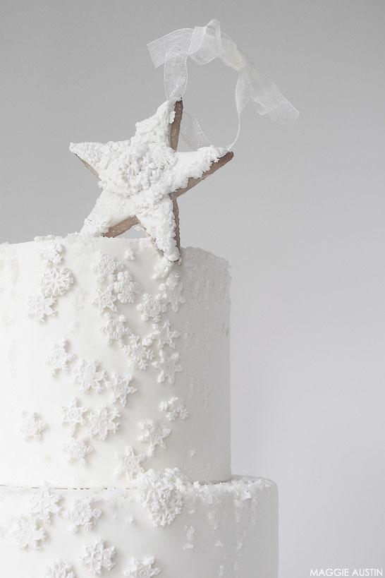 Snowflake Cake | by Maggie Austin | #12CakesOfChristmas