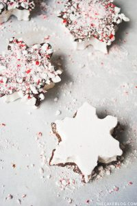 Homemade Chocolate Peppermint Snowflake Marshmallows