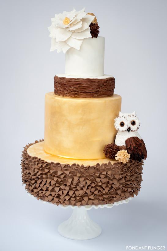 Winter Owl Cake   The 12th Cake of Christmas   by Fondant Flinger   #12CakeOfChristmas
