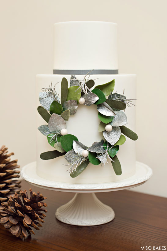 Inspired by Wreaths | The 11th Cake of Christmas | by Miso Bakes | #12CakesOfChristmas