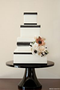 Black & White Wedding Design | by Miso Bakes