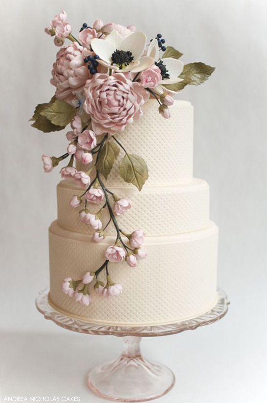 Top Cakes of 2013 | Romantic Peonies & Anemones | by Andrea Nicholas Cakes