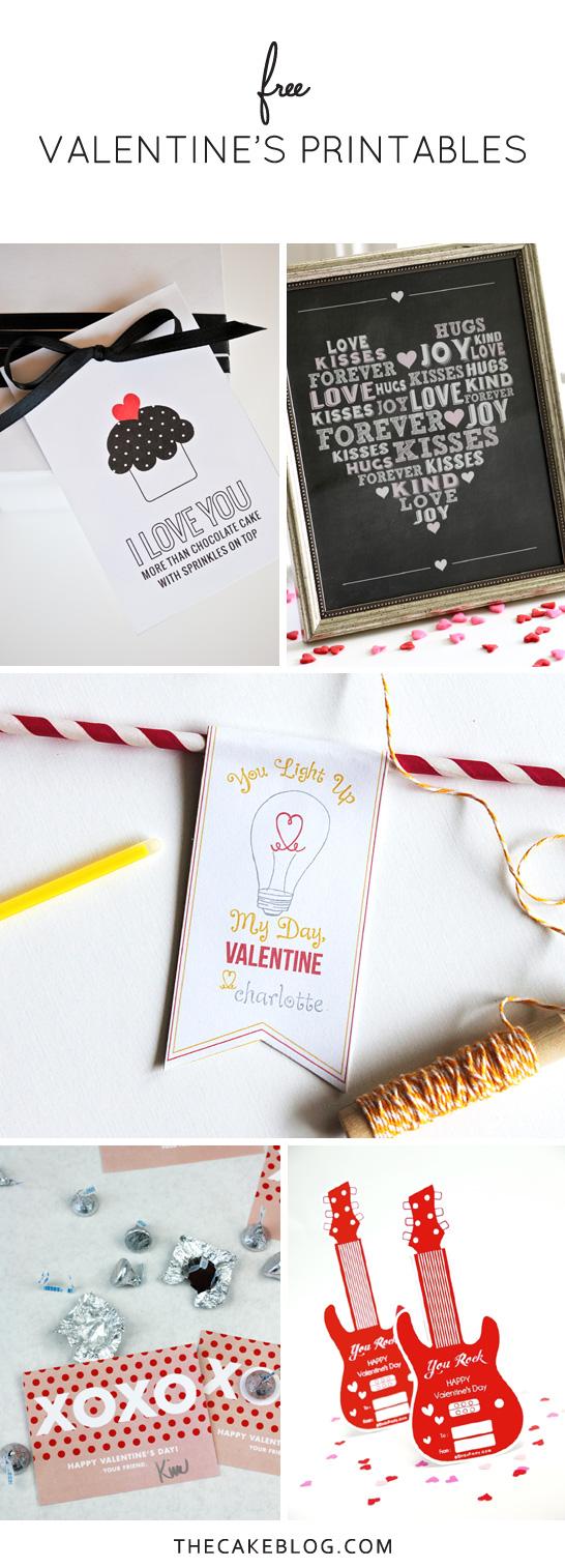 Free Printable Valentines | TheCakeBlog.com