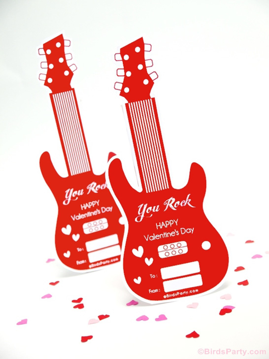 Free Printable Valentines | by Birds Party on TheCakeBlog.com