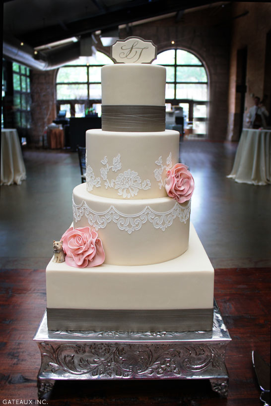 gateaux inc wedding cakes delicate lace cake 14649