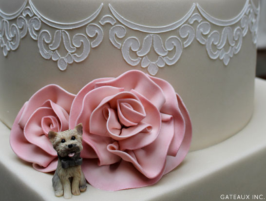 Lace Wedding Cake   by Gateaux Inc.