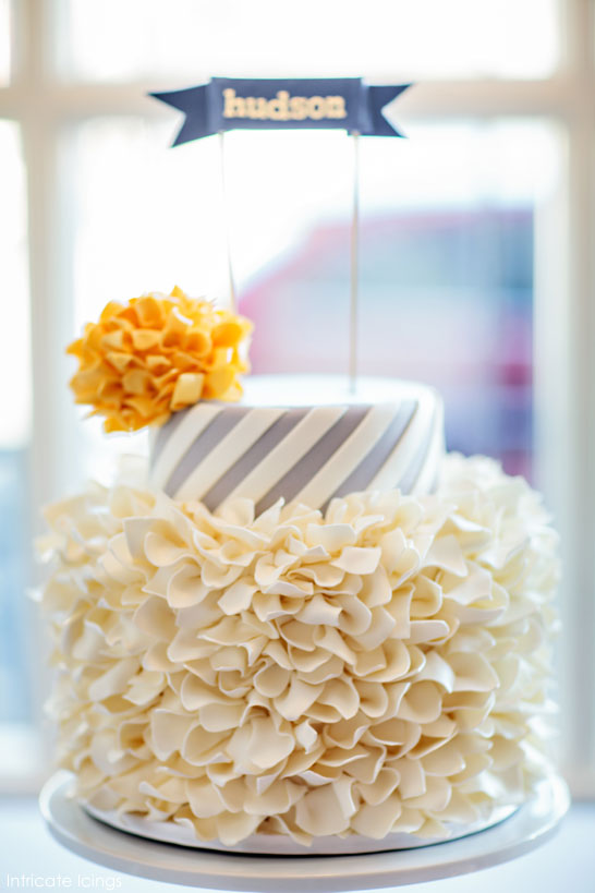 Top Cakes of 2013 | Pom Pom Baby Shower | by Intricate Icings
