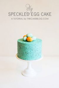 Top DIY's of 2013 | Speckled Egg Cake | by Carrie Sellman