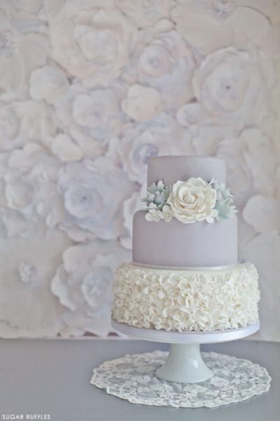 Dove Grey Wedding Cake