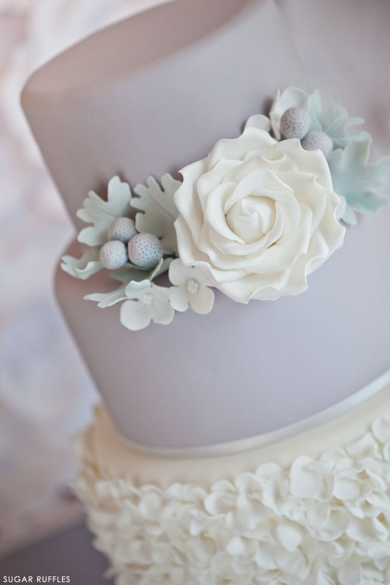 Dove Grey Wedding Cake | by Sugar Ruffles