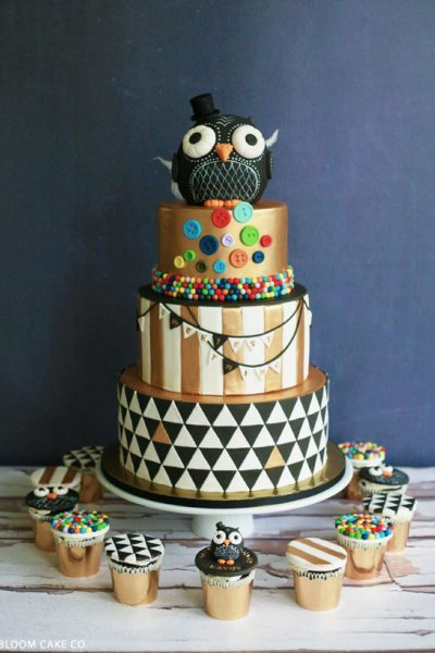 Black & Gold Owl Birthday