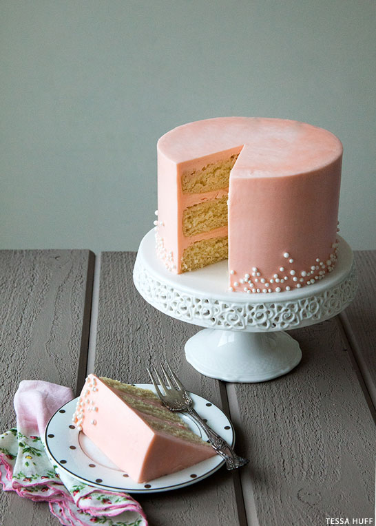 White Chocolate Amp Rose Buttercream Cake The Cake Blog