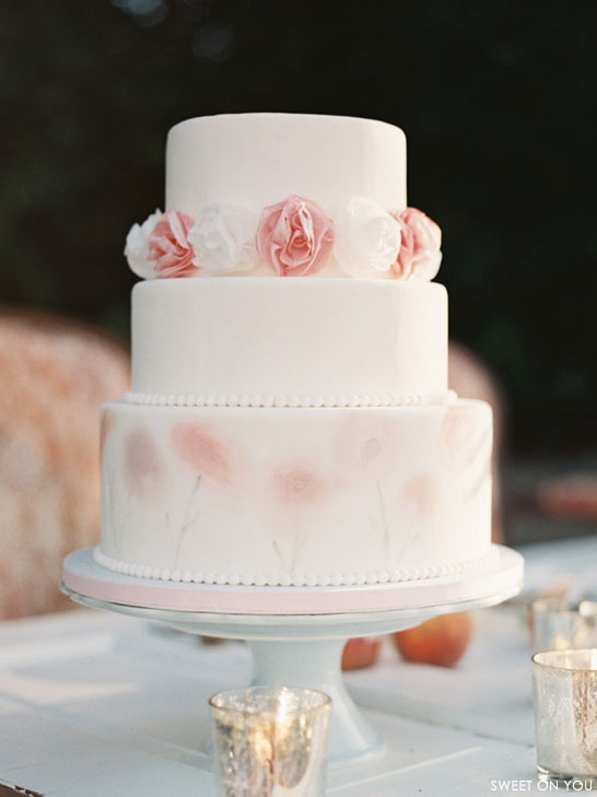 Watercolor Wedding Cake   by Sweet On You