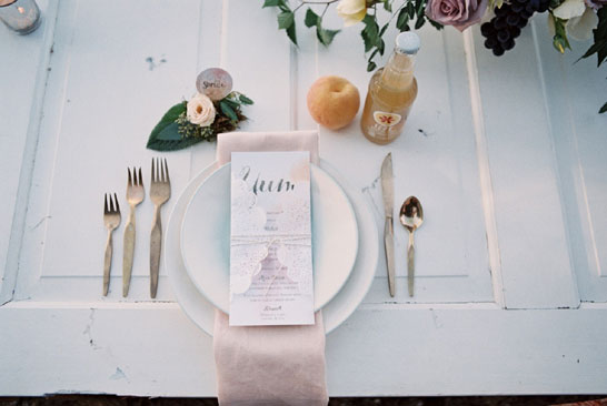 Watercolor Wedding Inspiration on TheCakeBlog.com