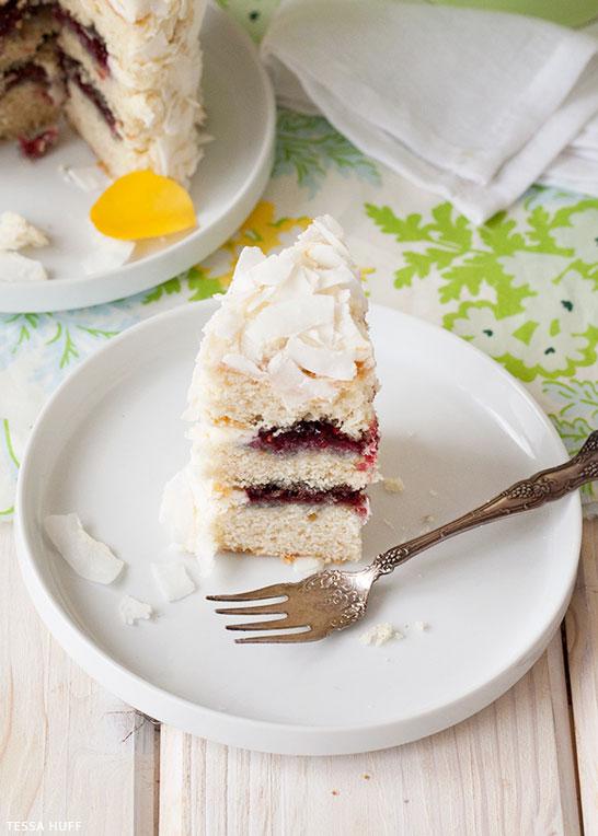 Coconut Cake Recipe | by Tessa Huff for TheCakeBlog.com