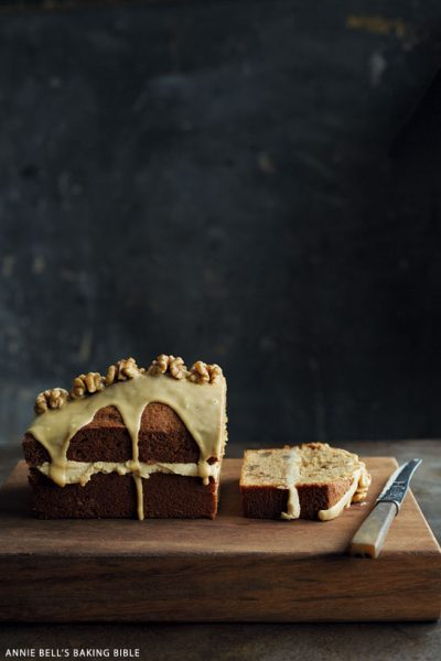 Coffee Walnut Loaf Cake
