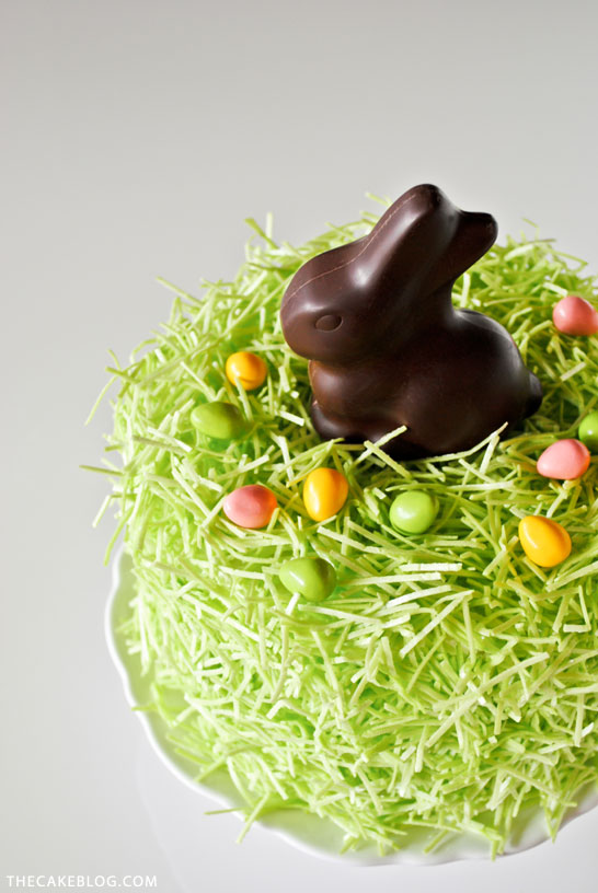 DIY Chocolate Easter Bunny Cake   Carrie Sellman for TheCakeBlog.com