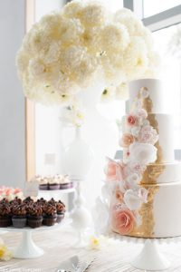 Pink & Gold Cake Table