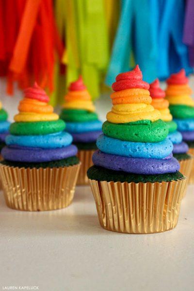 Rainbow & Green Velvet Cupcakes