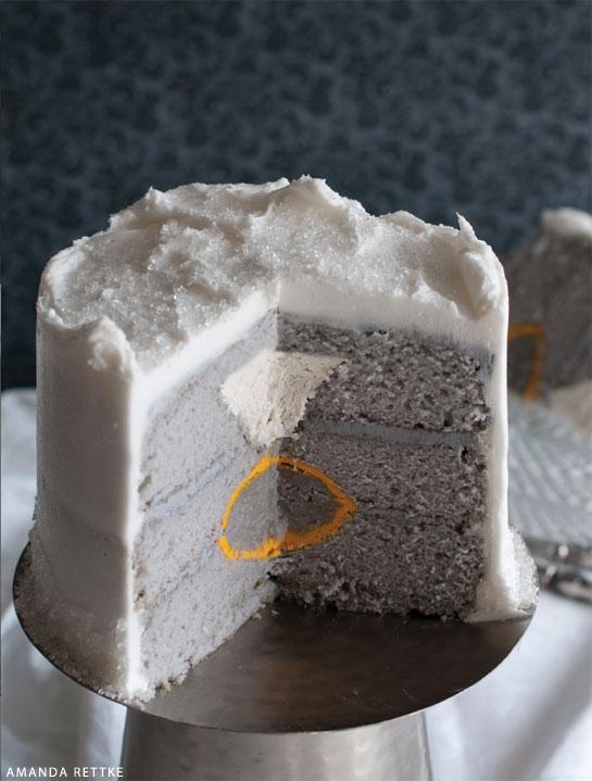 Surprise-Inside Engagement Ring Cake | by Amanda Rettke, author of Surprise-Inside Cakes | on TheCakeBlog.com