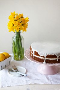 Lemon and Lavender Buttermilk Cake