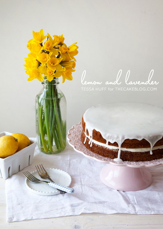 Lemon and Lavender Buttermilk Cake | by Tessa Huff for TheCakeBlog.com