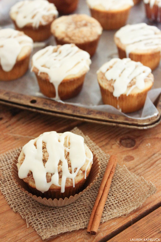 Cinnamon Roll Cupcakes | by Lauren Kapeluck for TheCakeBlog.com