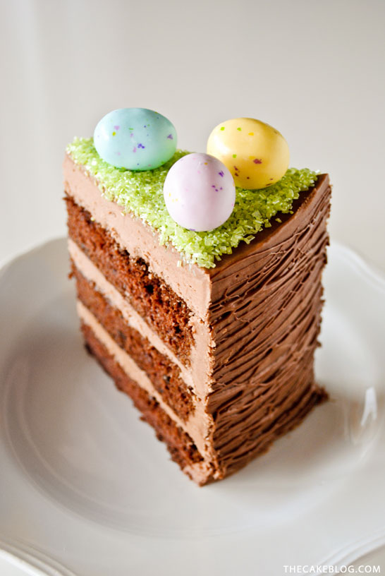 Easy Easter Basket Cake | a DIY by Carrie Sellman of TheCakeBlog.com