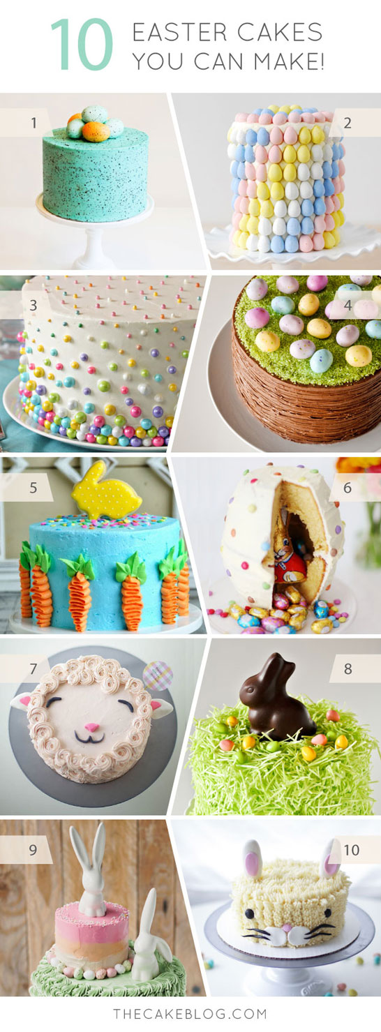 10 Adorable Cakes You Can Make for Easter   on TheCakeBlog.com