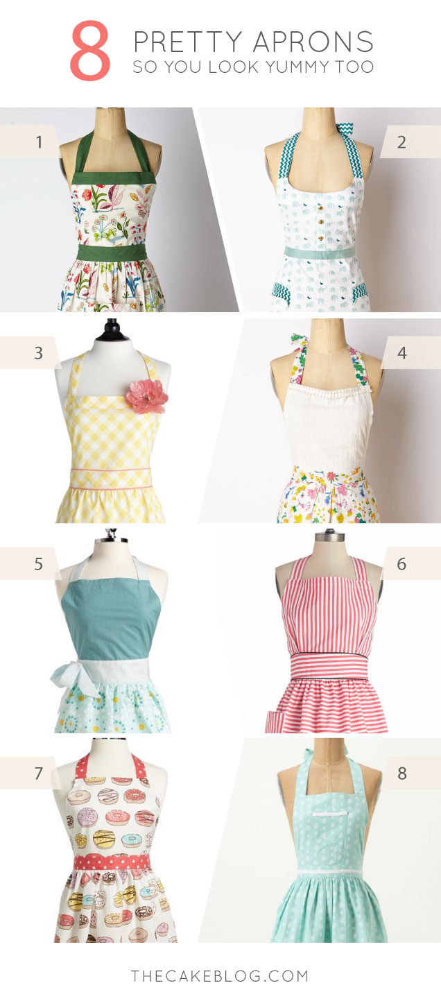 look as yummy as dessert | 8 Pretty Aprons