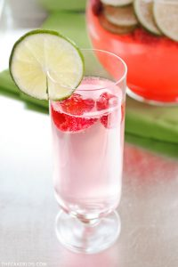 light and refreshing for summer  | Sparkling Raspberry Limeade