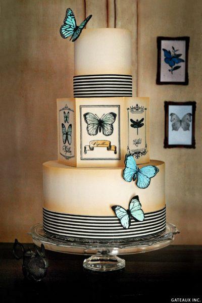 DIY: Vintage Butterfly Cake