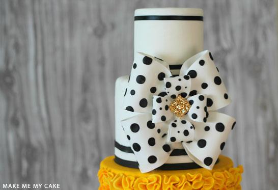 Black & White Polka Dot Cake | by Make Me My Cake on TheCakeBlog.com
