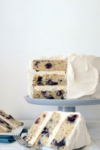 inspired by blueberry pancakes | Blueberry Breakfast Cake | by Tessa Huff for TheCakeBlog.com
