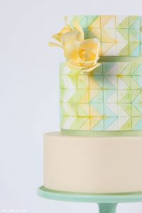 Vertical Chevron Cake | by Allison Kelleher of AK Cake Design | on TheCakeBlog.com