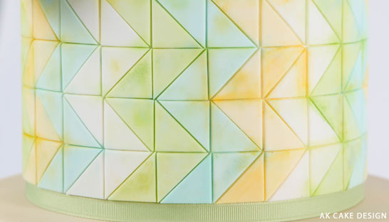 Pastel Zig Zag Cake | by Allison Kelleher of AK Cake Design | on TheCakeBlog.com