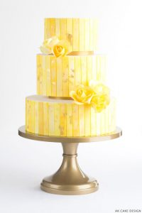 Golden Yellow and Saffron Cake | by AK Cake Design on TheCakeBlog.com