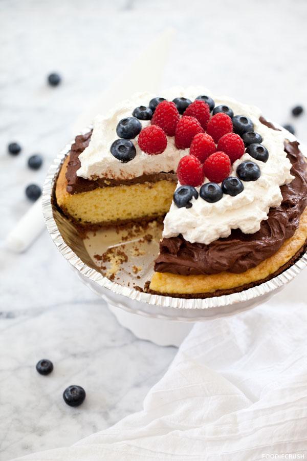Birthday Pie Cake   by FoodieCrush on TheCakeBlog.com