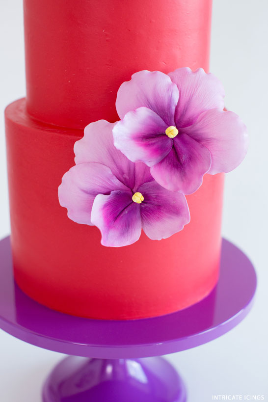 Dancing Violets | Bold Wedding Cake Inspiration | by Intricate Icings on TheCakeBlog.com