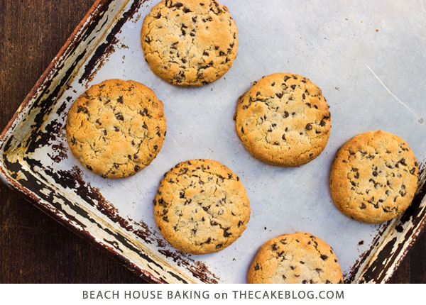 Gluten Free Chocolate Chip Cookies | by Lei Shishak author of Beach House Baking | on TheCakeBlog.com