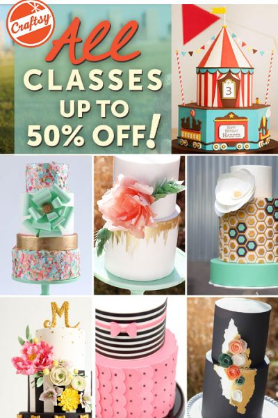 77 Cake Classes On Sale!