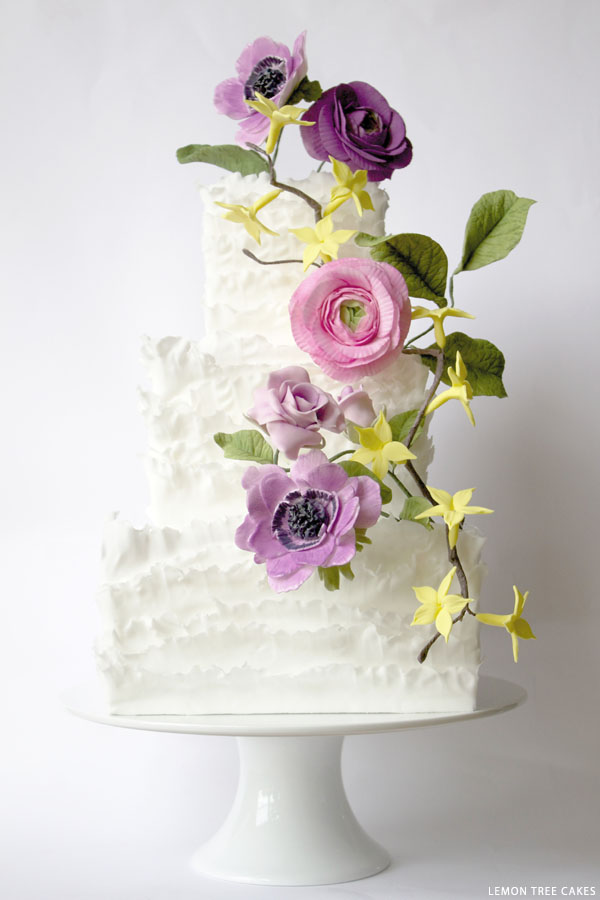 Summer Frills Cake | by Lemon Tree Cakes | on TheCakeBlog.com