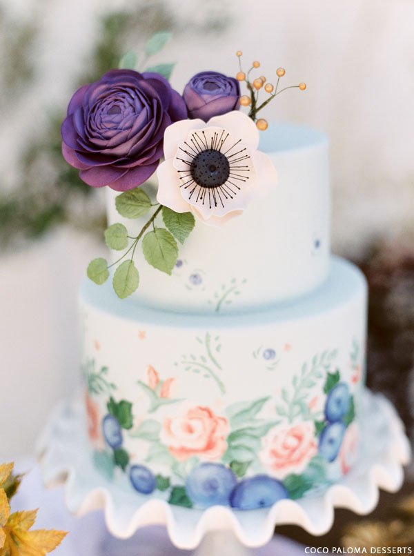 Fall Wedding Cake Inspiration | by Coco Paloma Desserts on TheCakeBlog.com